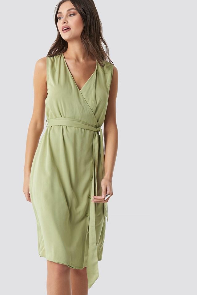 Utility Midi Dress Green