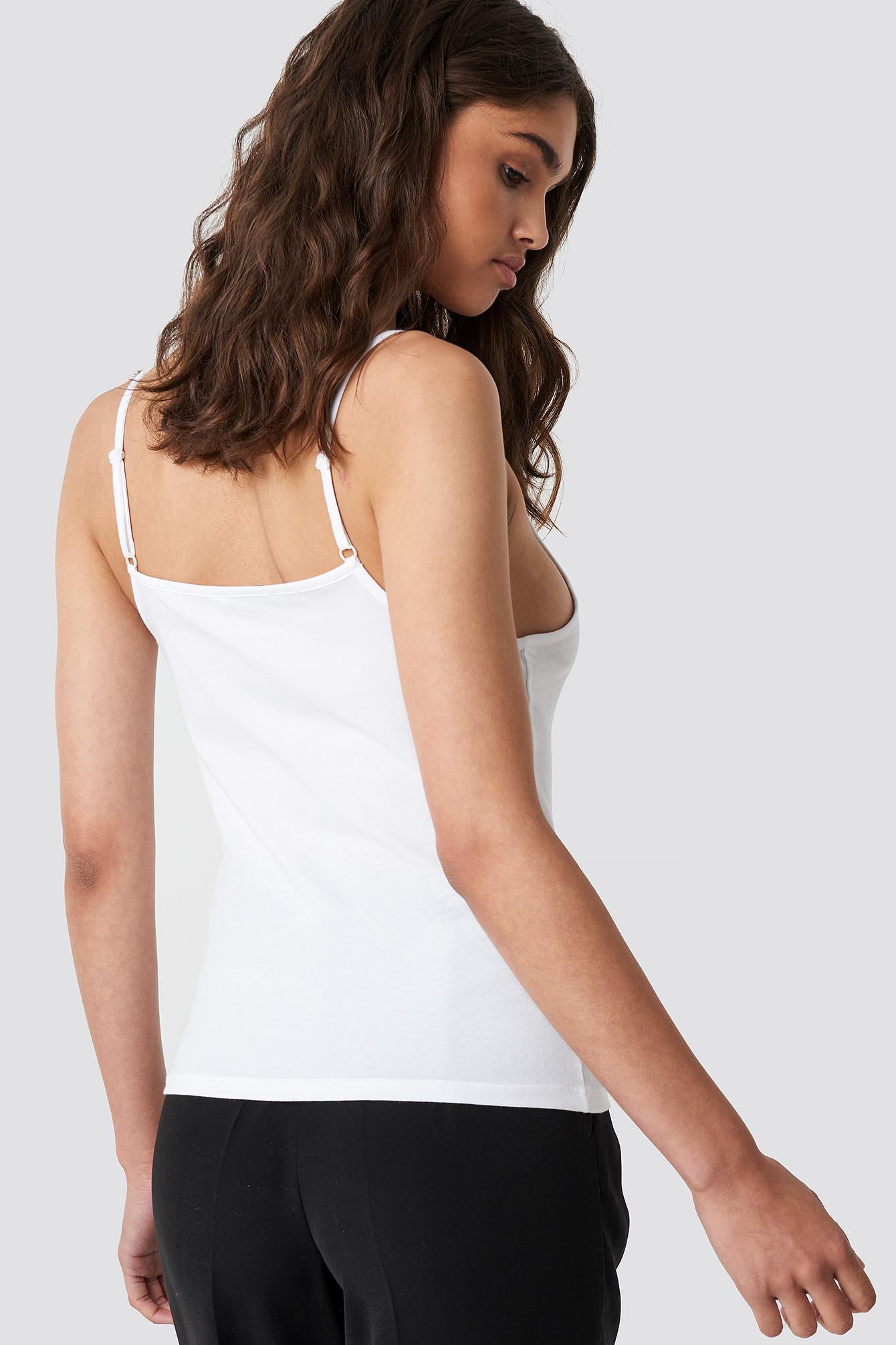 V-neck Basic Singlet NA-KD.COM