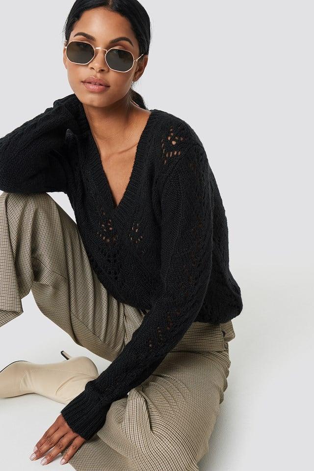 V-neck Knitwear Sweater NA-KD