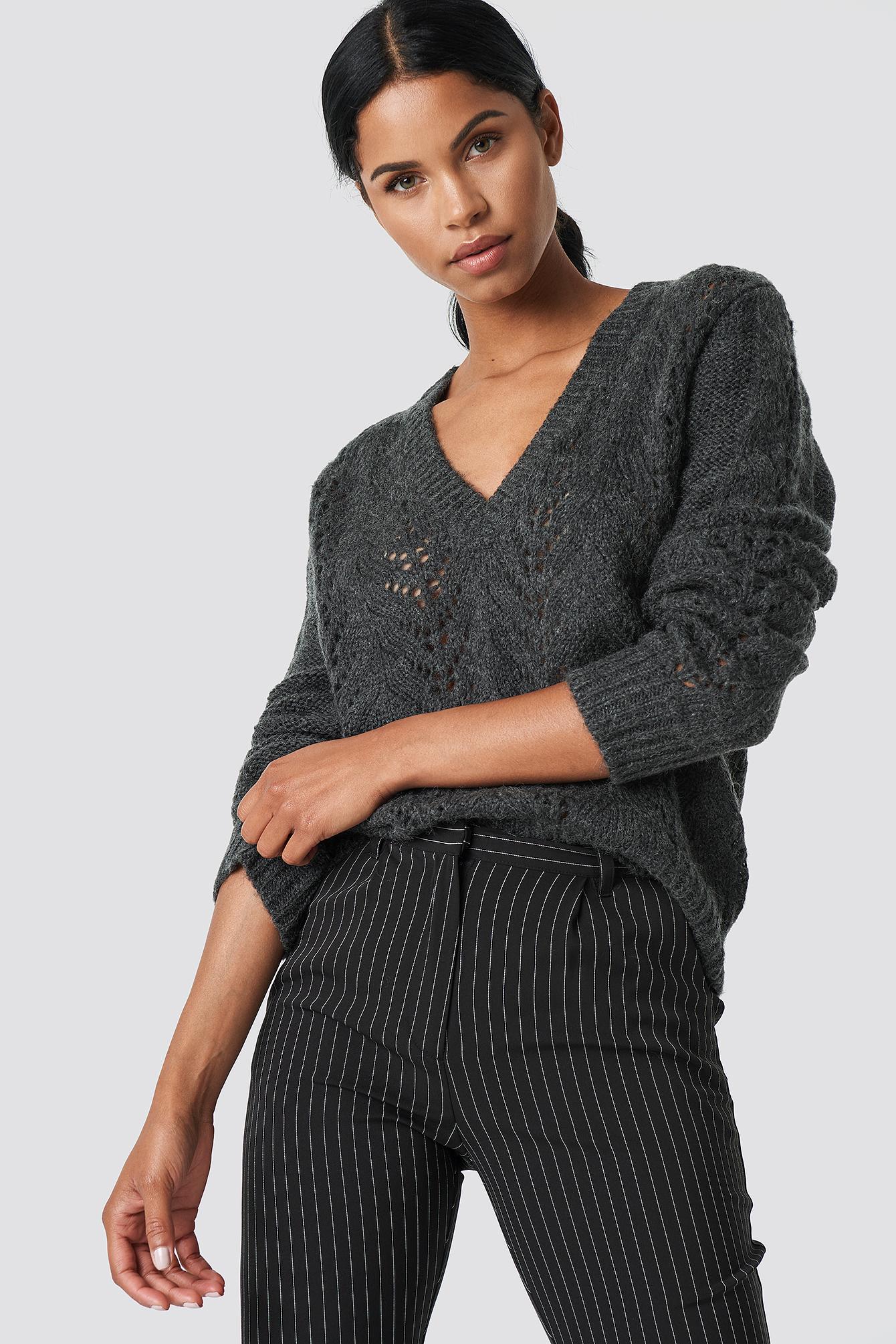 V-neck Knitwear Sweater NA-KD.COM