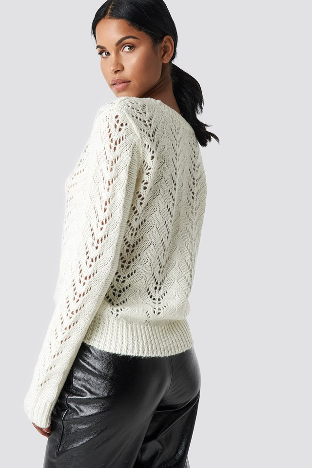 V-neck Knitwear Sweater Offwhite
