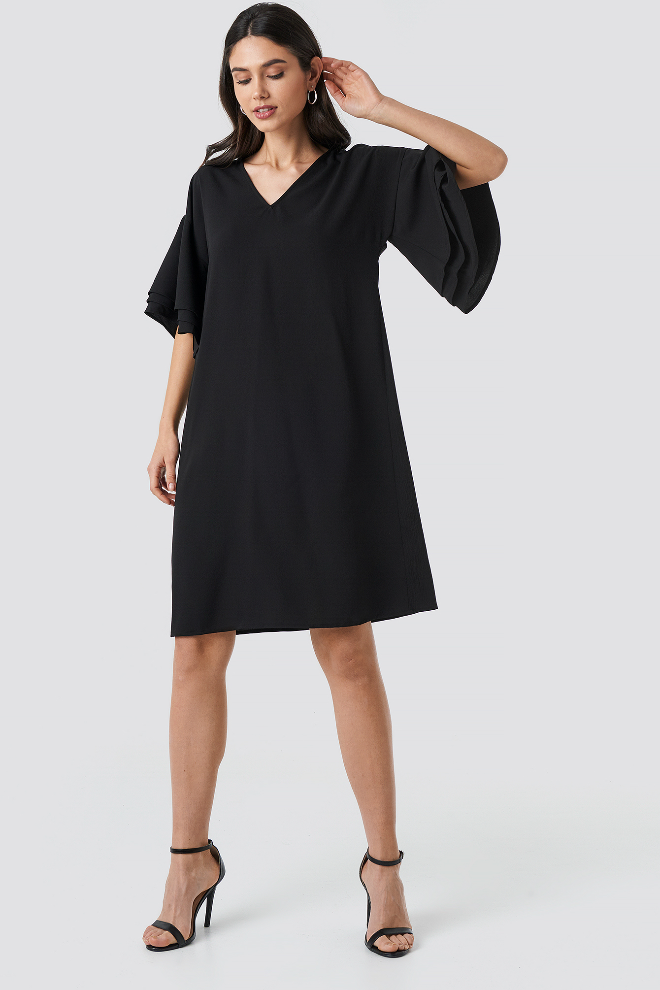 V-neck Layered Sleeve Dress NA-KD.COM