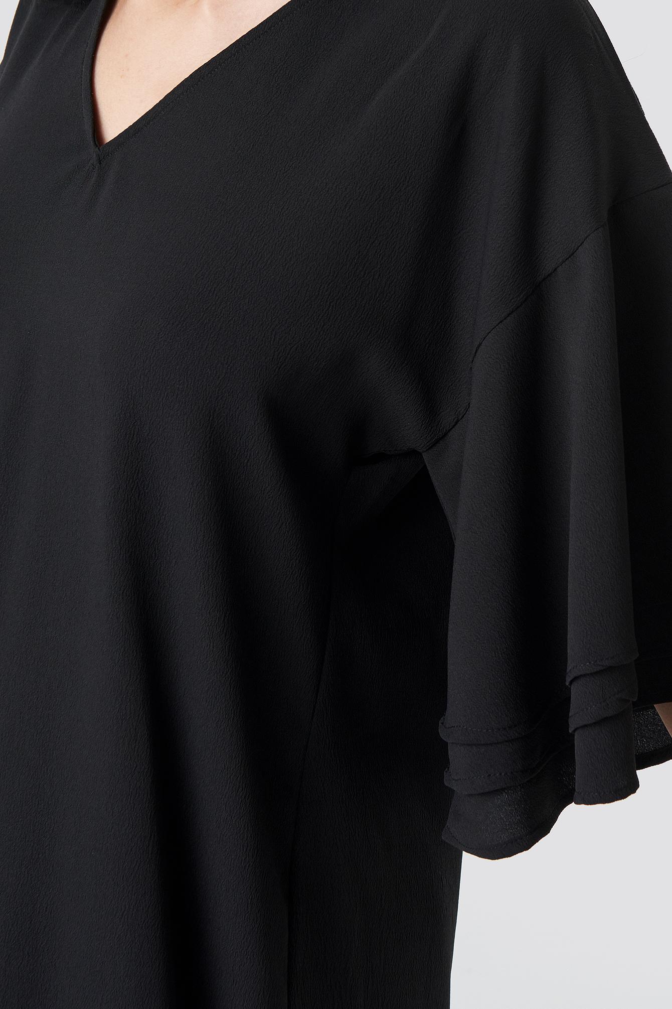 V-neck Layered Sleeve Dress NA-KD.COM
