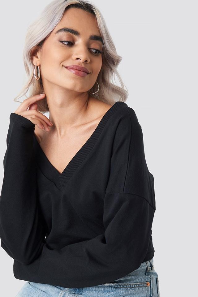 V-neck Short Sweater NA-KD.COM
