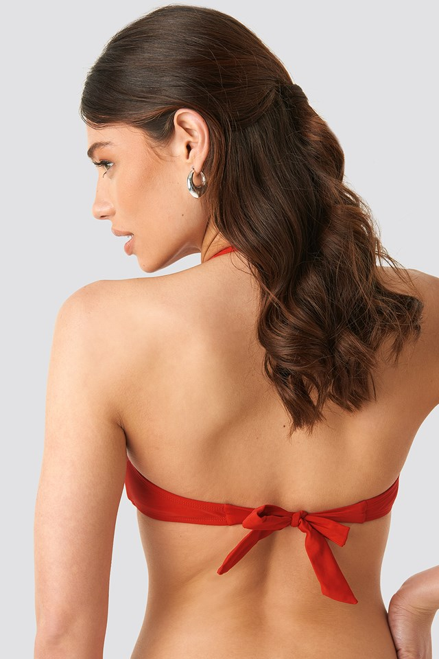 V-detail Bandeau Top Red