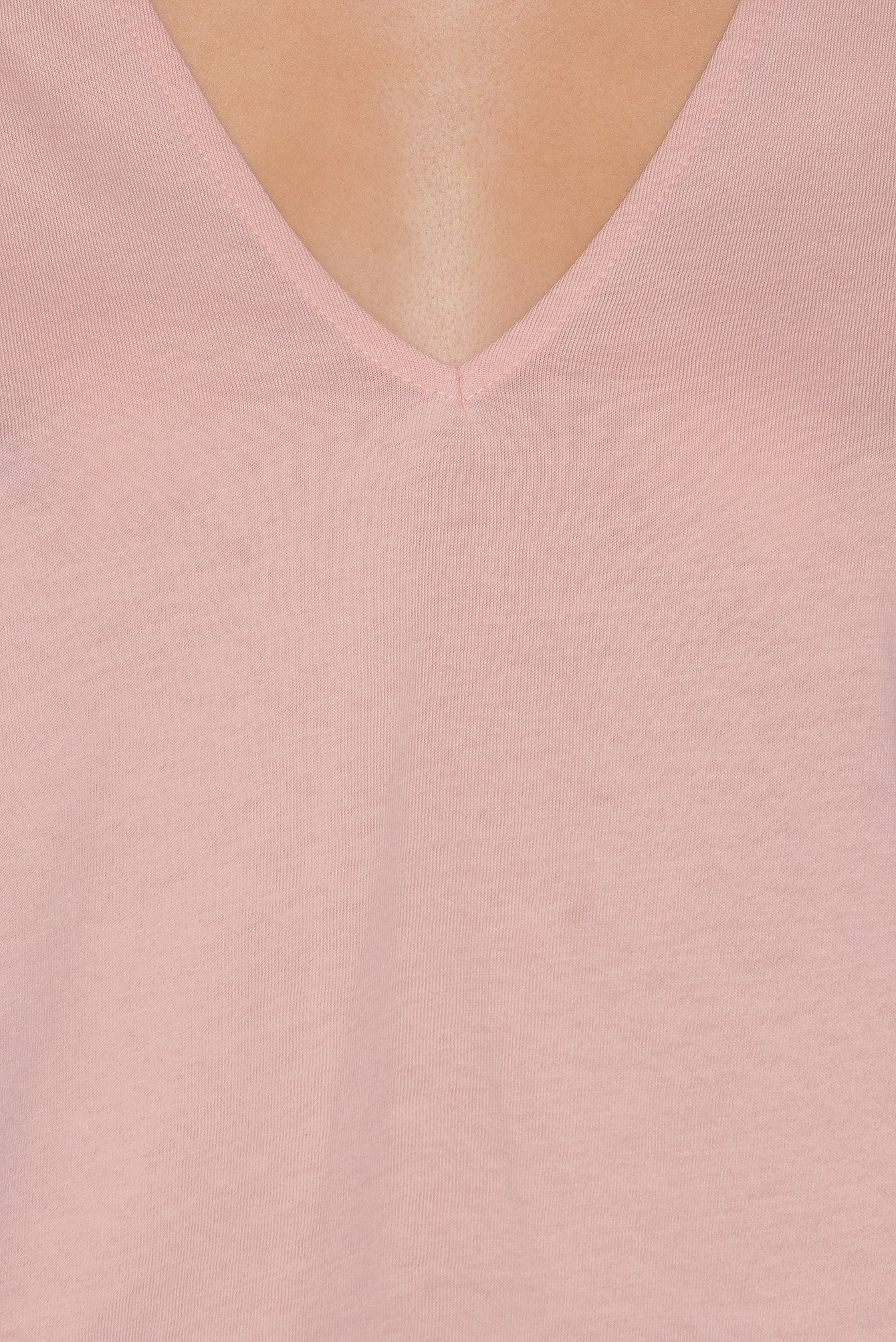 Pink V-neck Cut Out Top