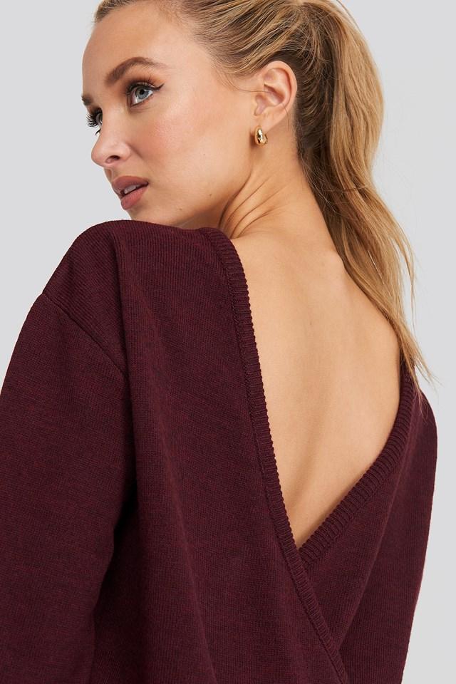 V-shape Deep Back Sweater NA-KD Trend