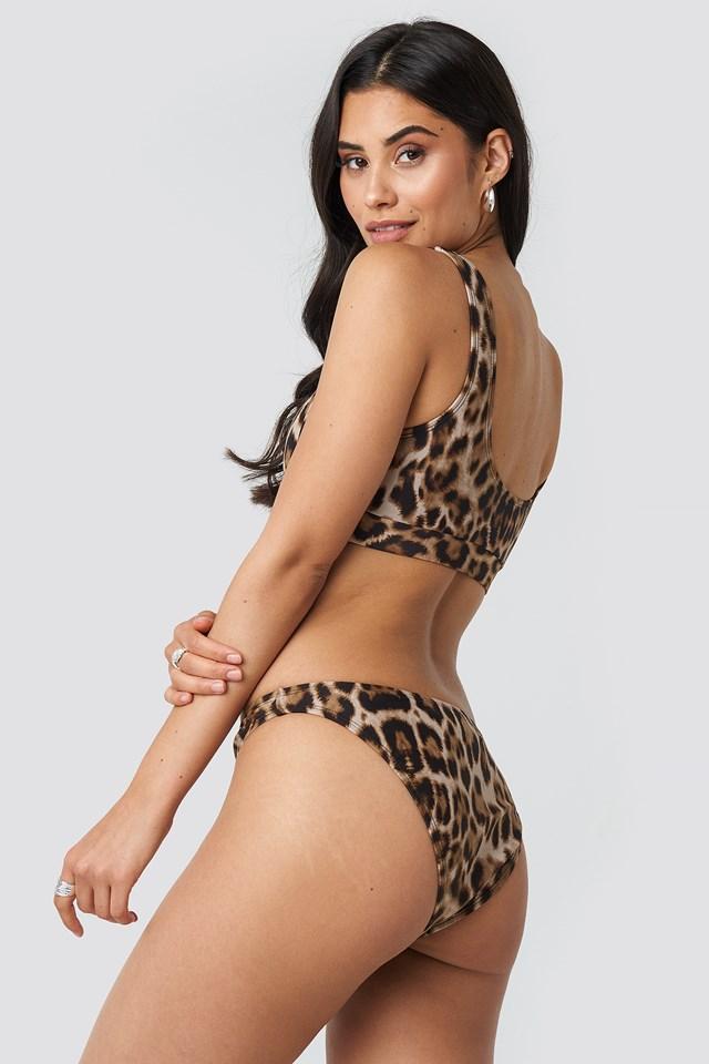 V Shape Front Bikini Bottom Leo