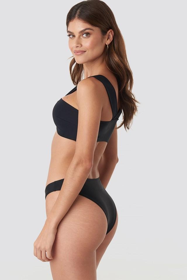 V Waist Bikini Bottom Black