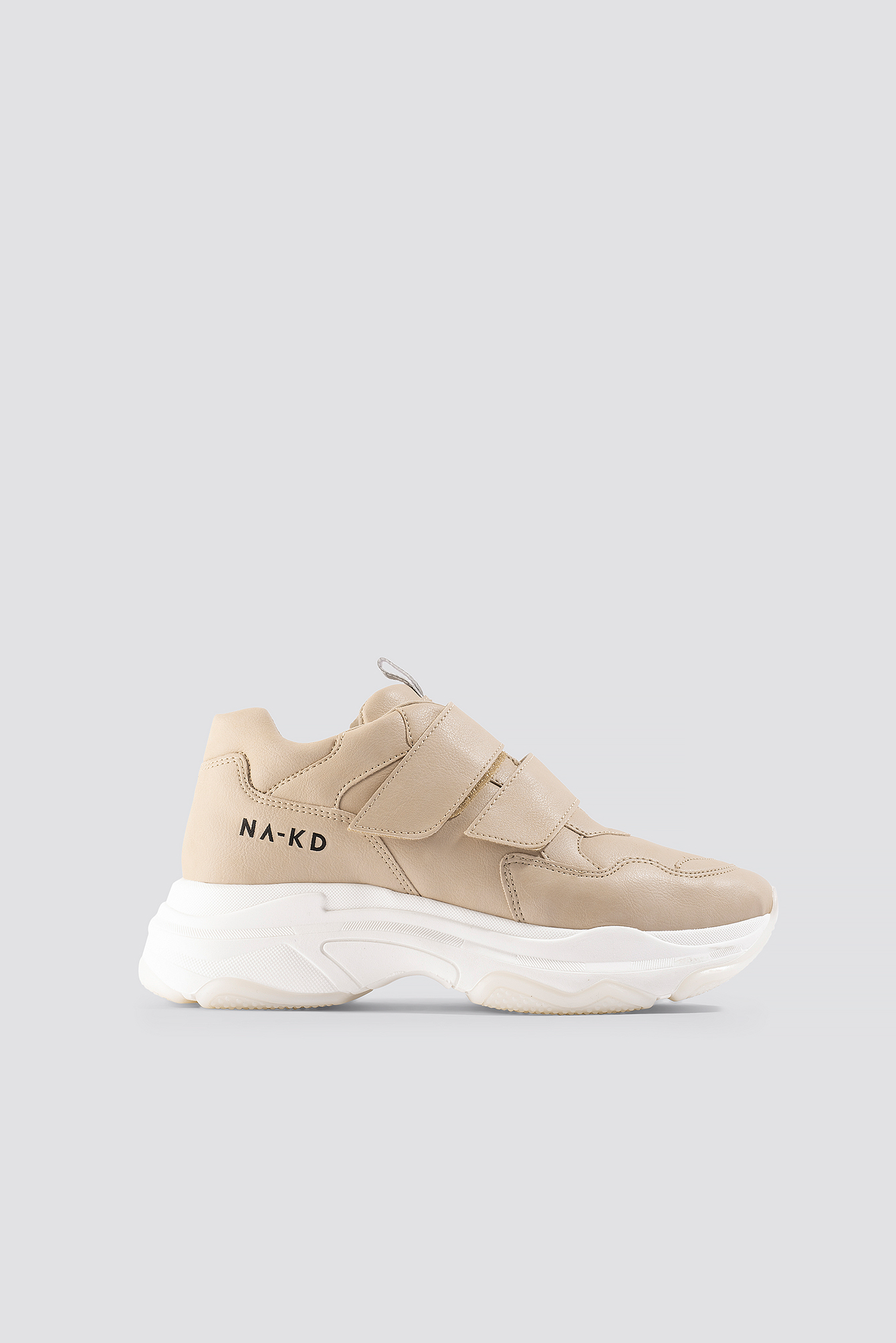 na-kd shoes -  Velcro Chunky Trainers - Beige