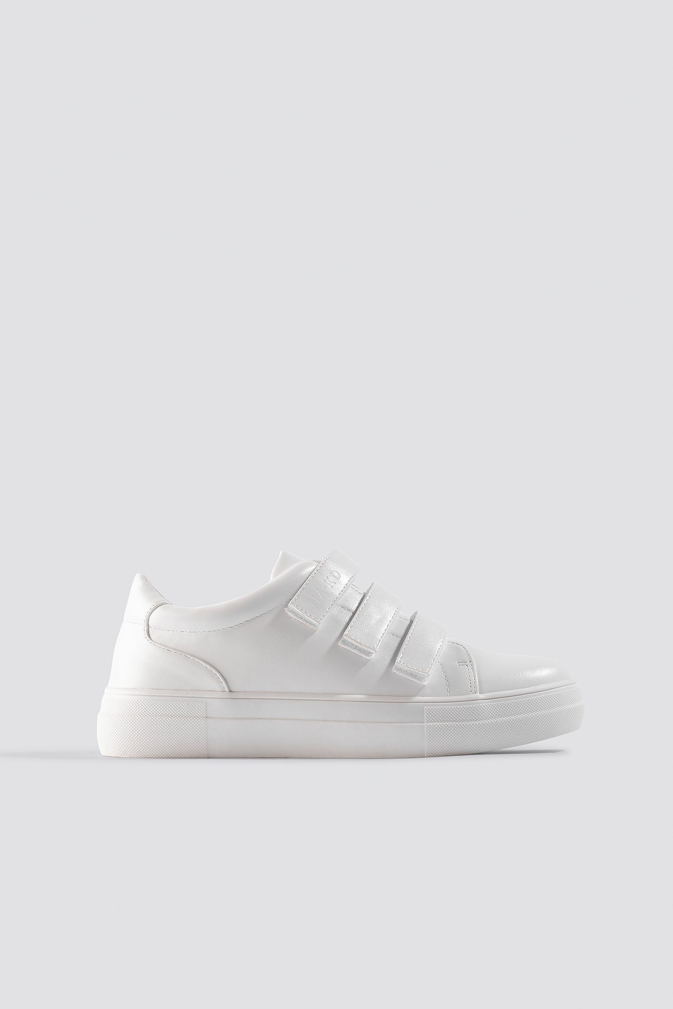 NA-KD Shoes Velcro Sneakers - White