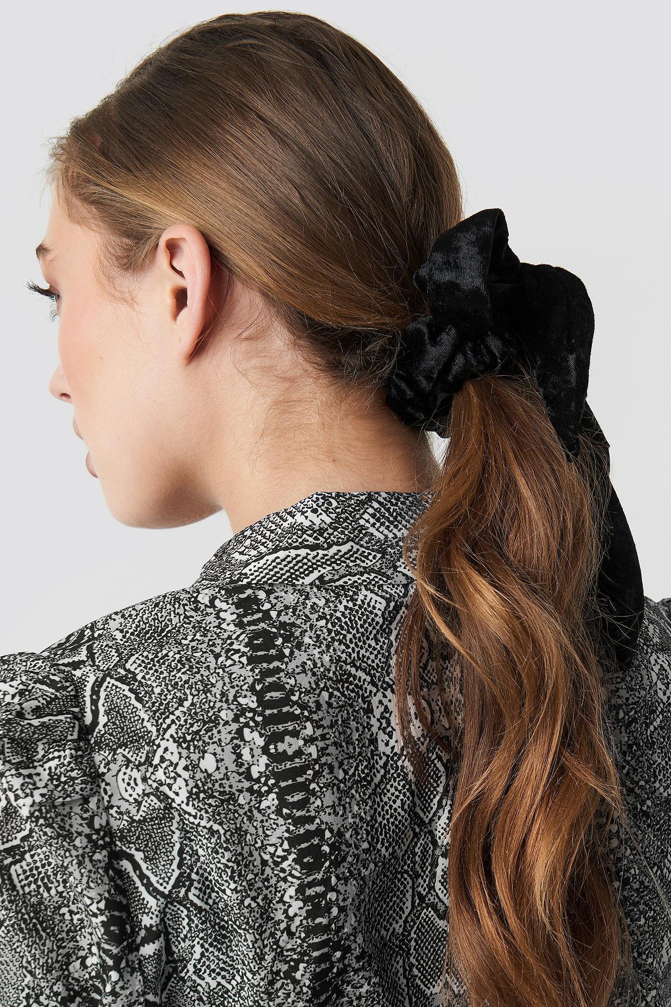 Velvet Bow Scrunchie NA-KD.COM