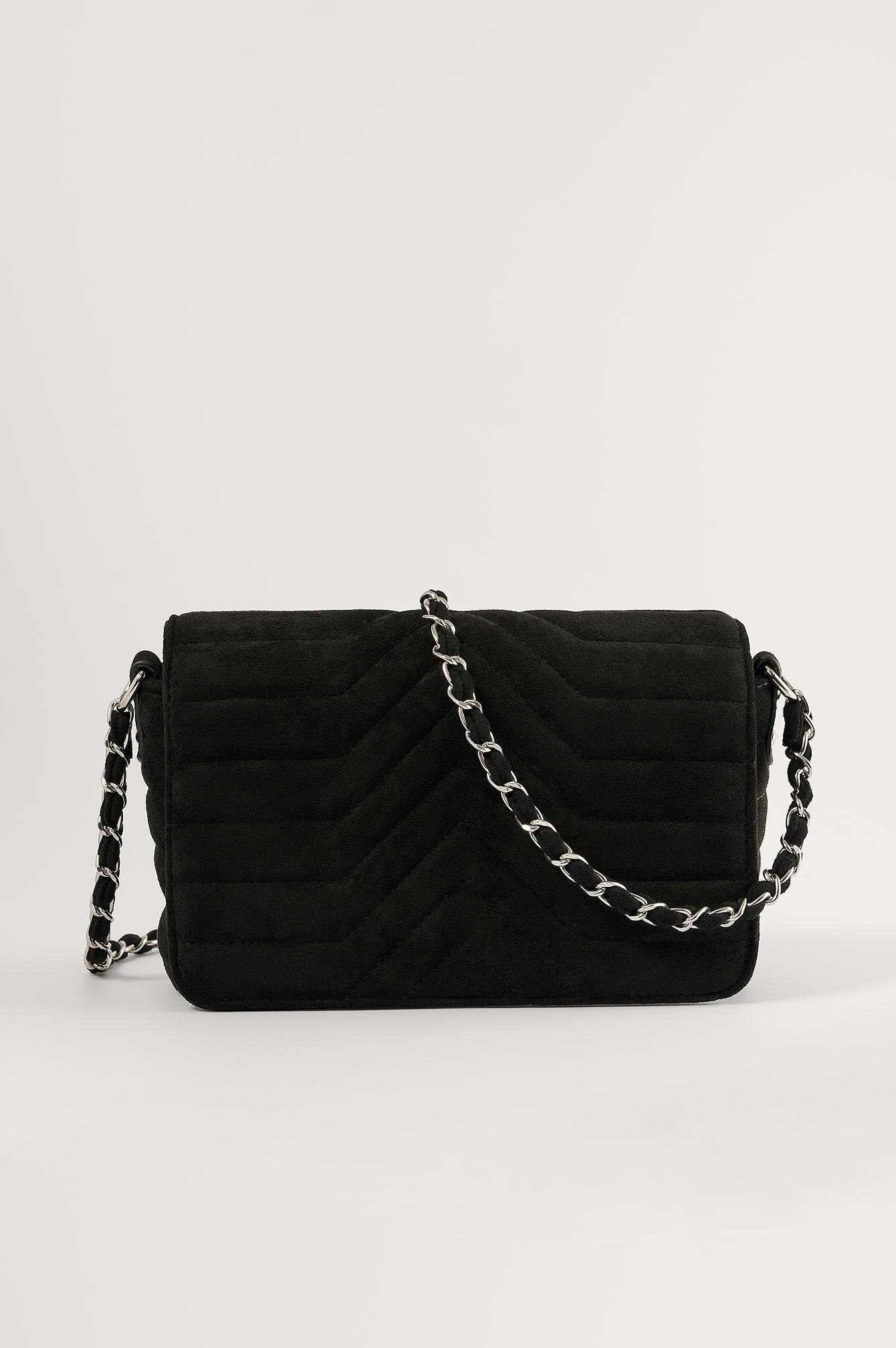 na-kd accessories -  Kette Crossbody-Tasche - Black