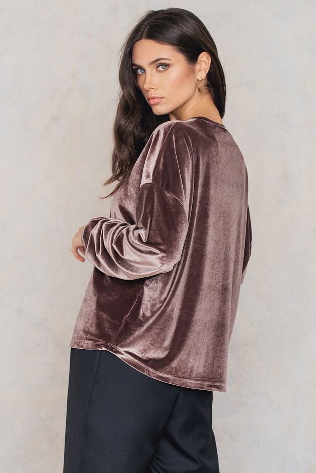 Velvet Detailed Sweater NA-KD.COM