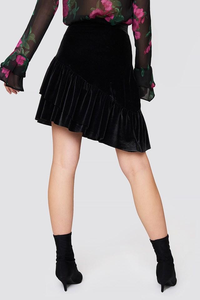 Velvet Frill Skirt NA-KD.COM