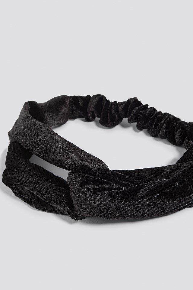 Velvet Hairband Black