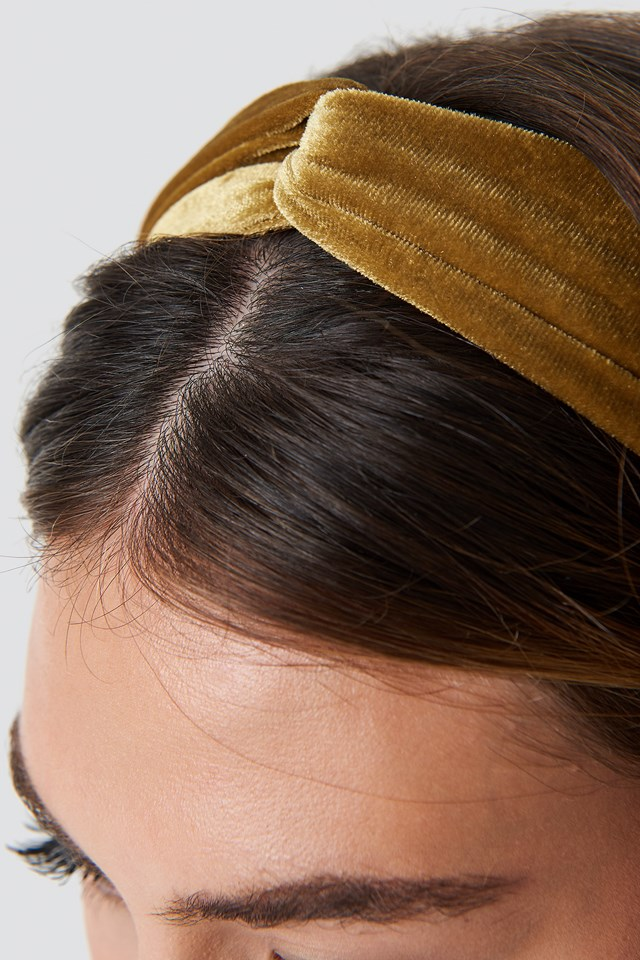 Velvet Hairband Gold