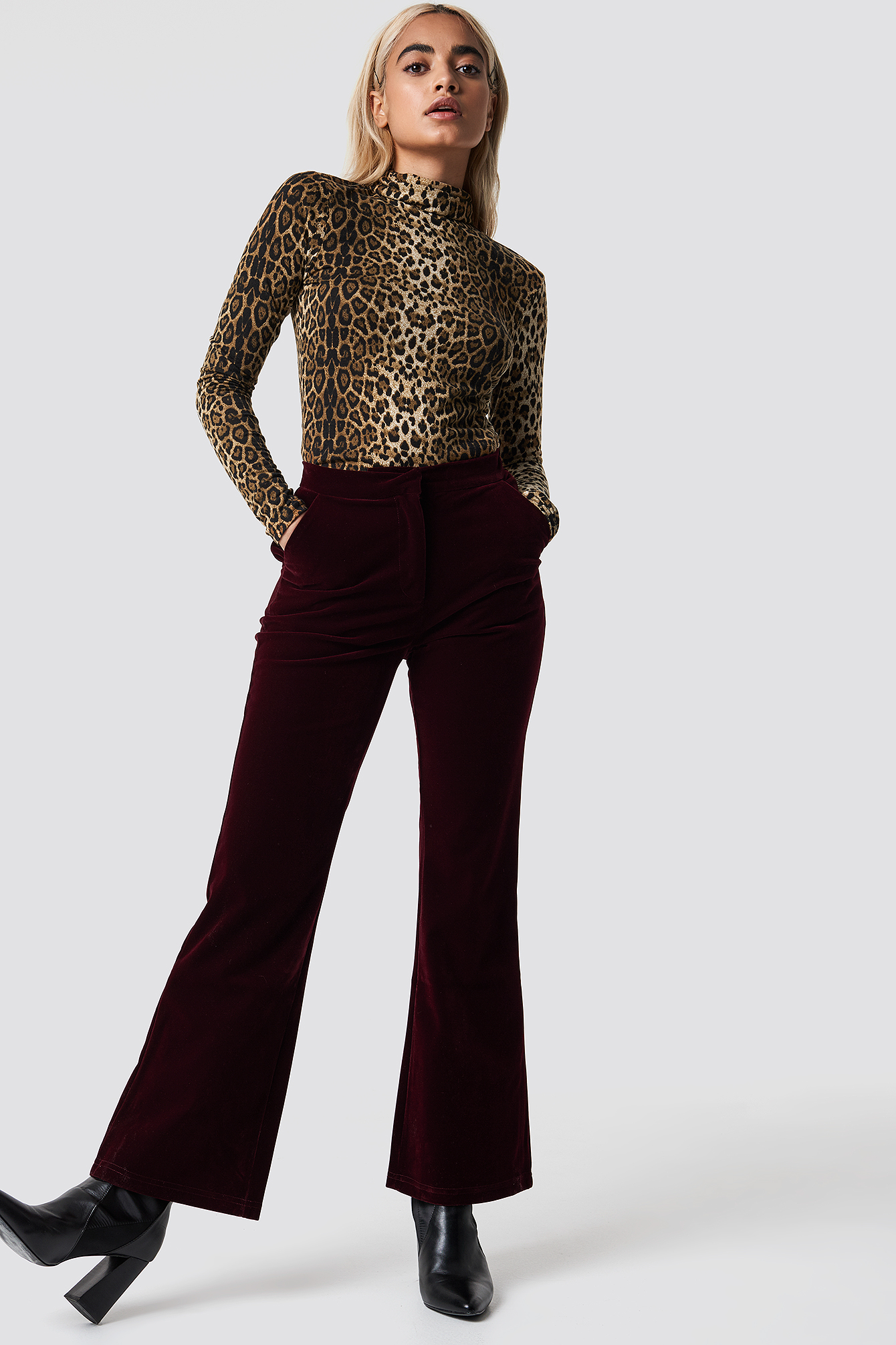 na-kd party -  Velvet Trousers - Red