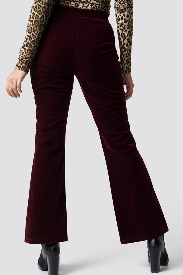 Velvet Trousers Burgundy