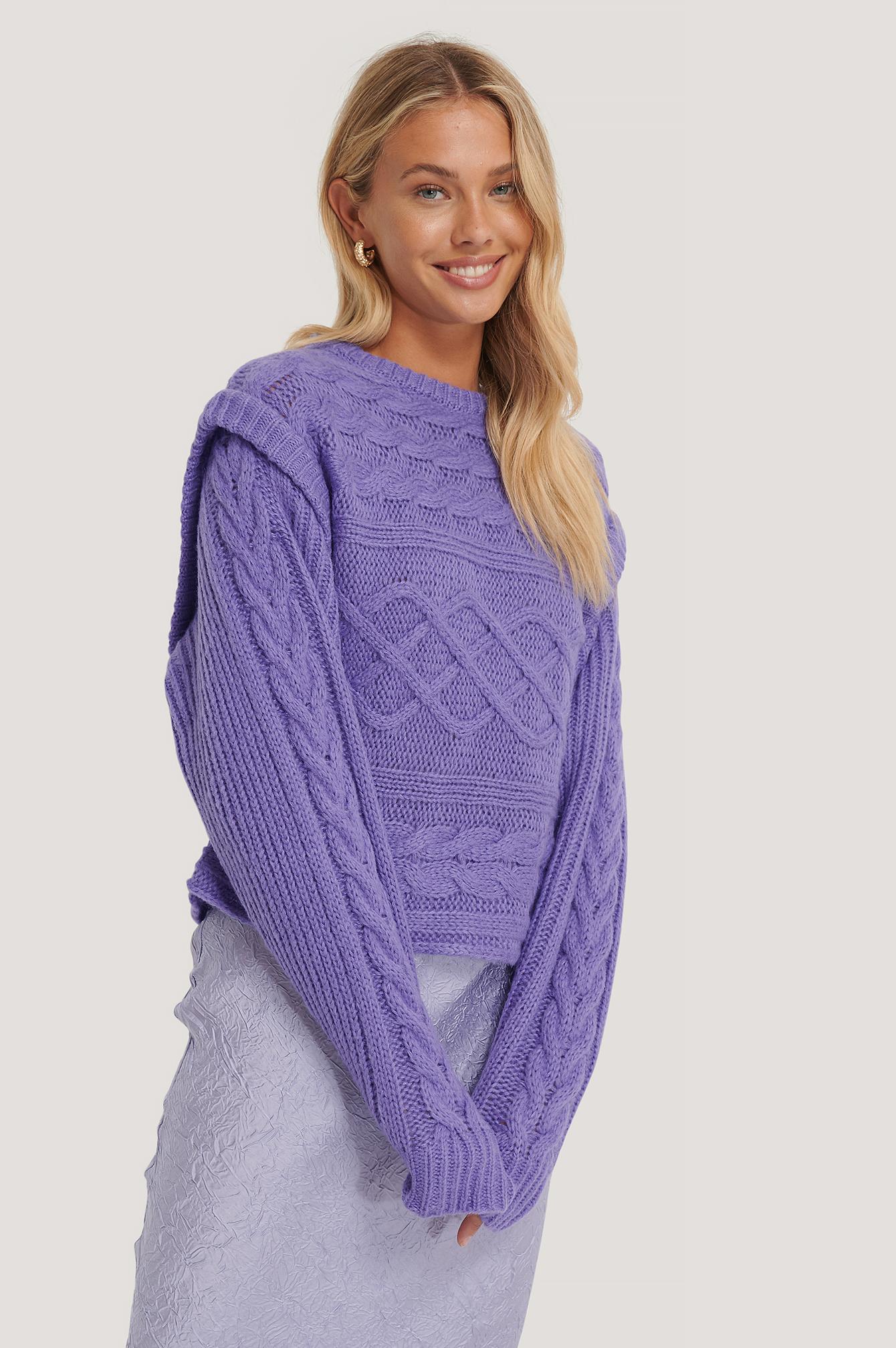 NA-KD Trend Weste Strickpullover - Purple   Bekleidung > Westen > Sonstige Westen   NA-KD Trend