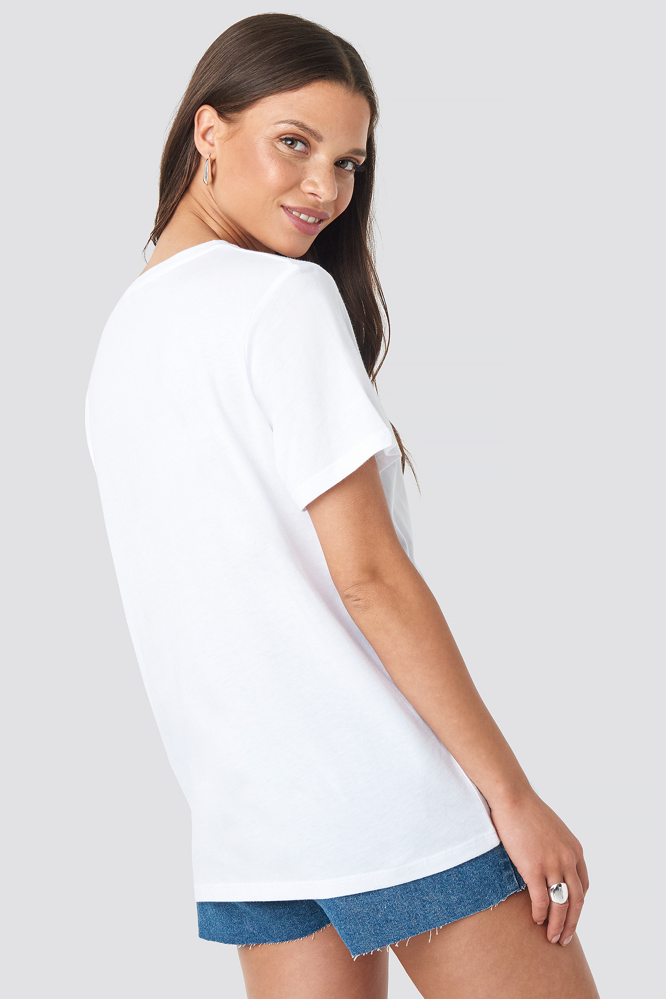 White/Blue Vigorous Tee