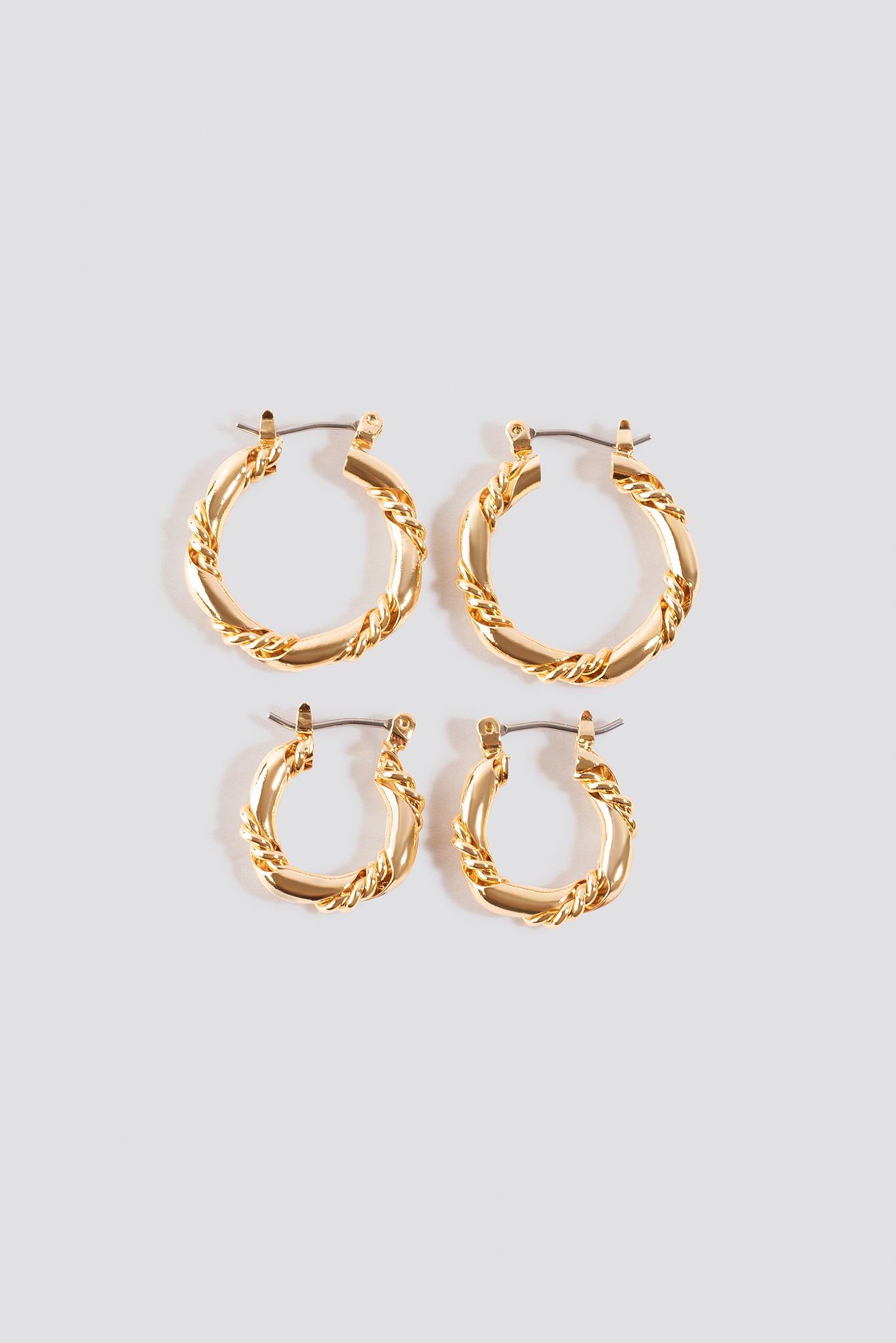 Vintage Look Hoops (2-pack) NA-KD.COM