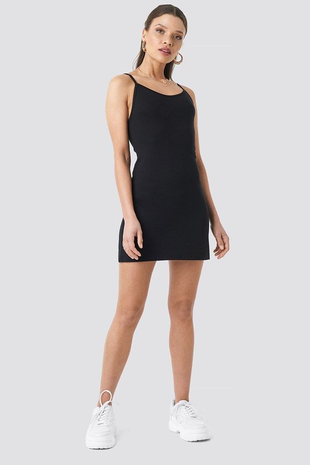 Viscose Basic Dress Black