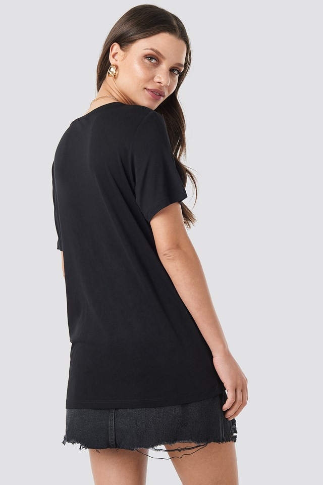 T-shirt basic z okrągłym dekoltem Black