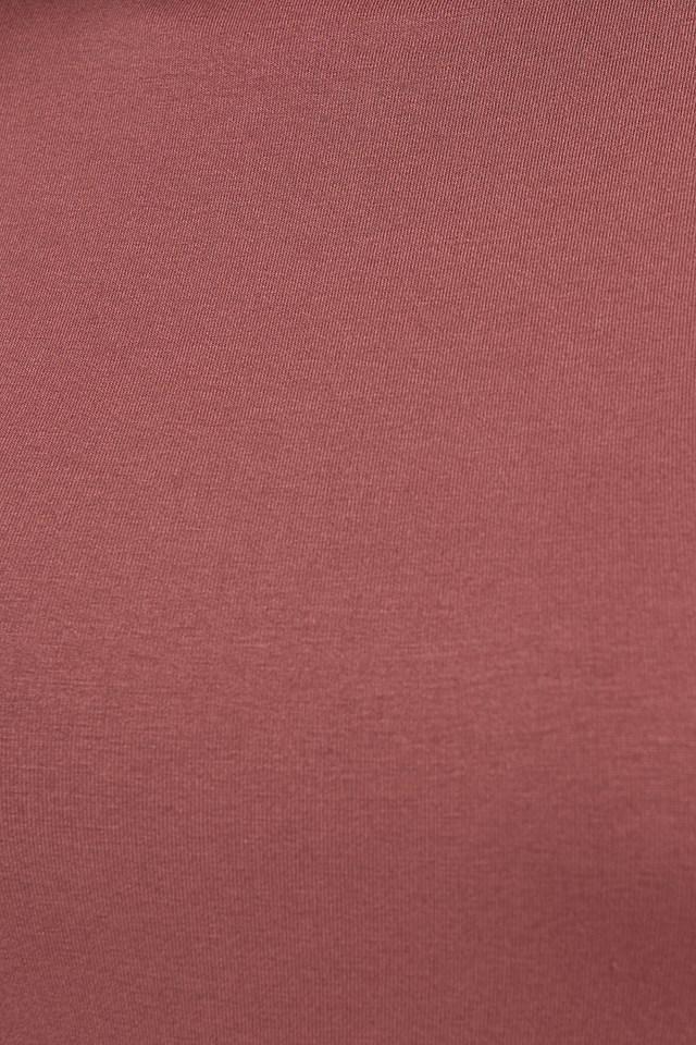 Viscose Long Sleeve Polo Top Dusty Rose