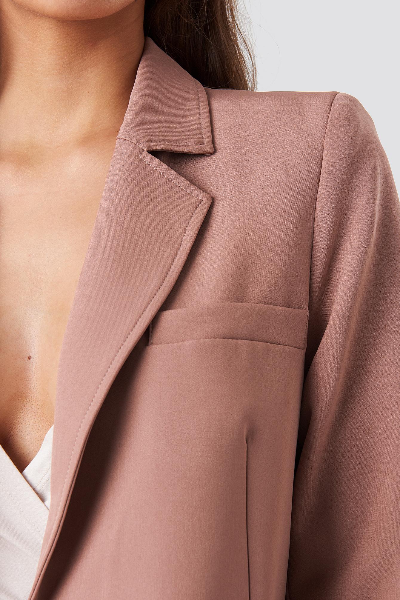 Visible Stitch Straight Fit Blazer NA-KD.COM
