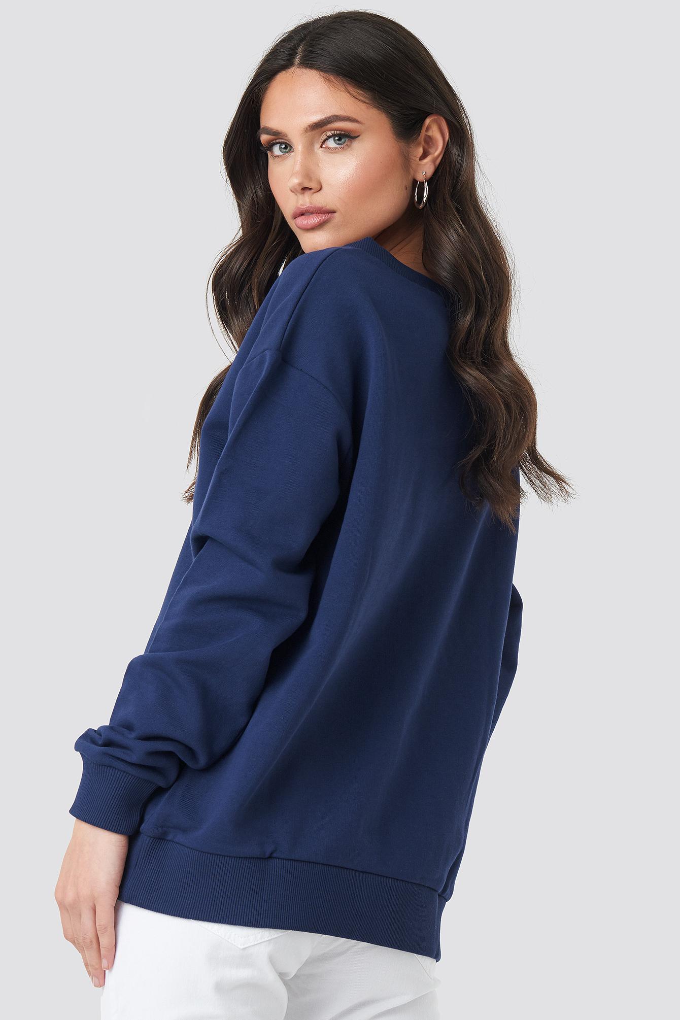 Bluza basic z dekoltem V NA-KD.COM