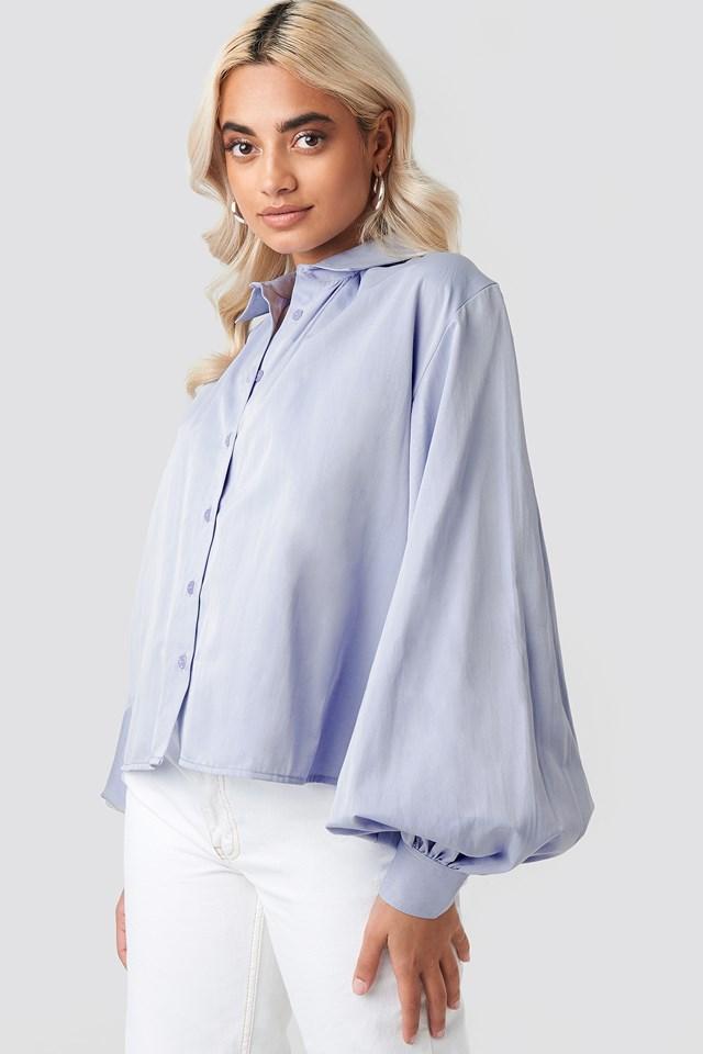 Volume Sleeve Shirt Light Blue