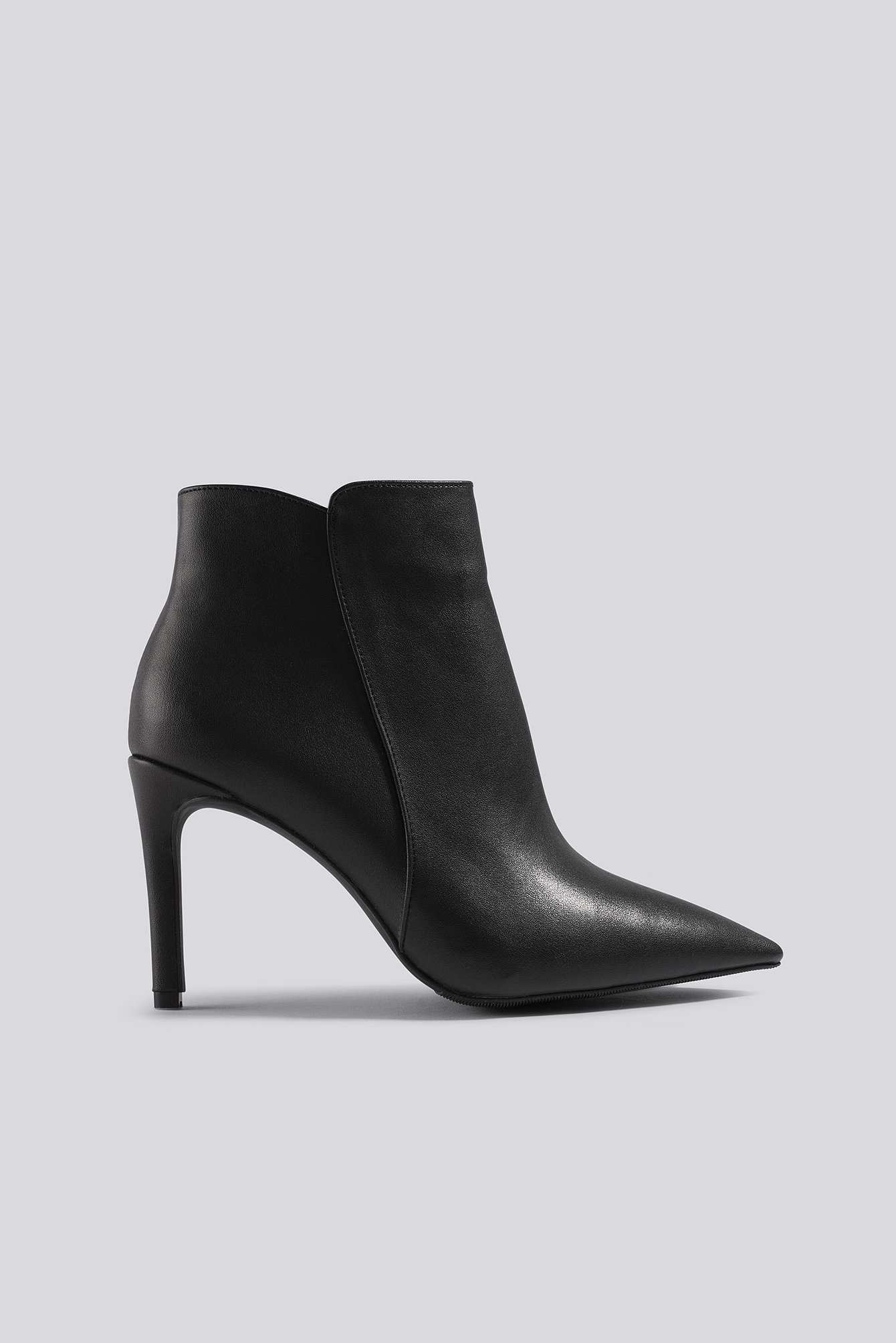 na-kd shoes -  Warm Lined Stiletto Boots - Black