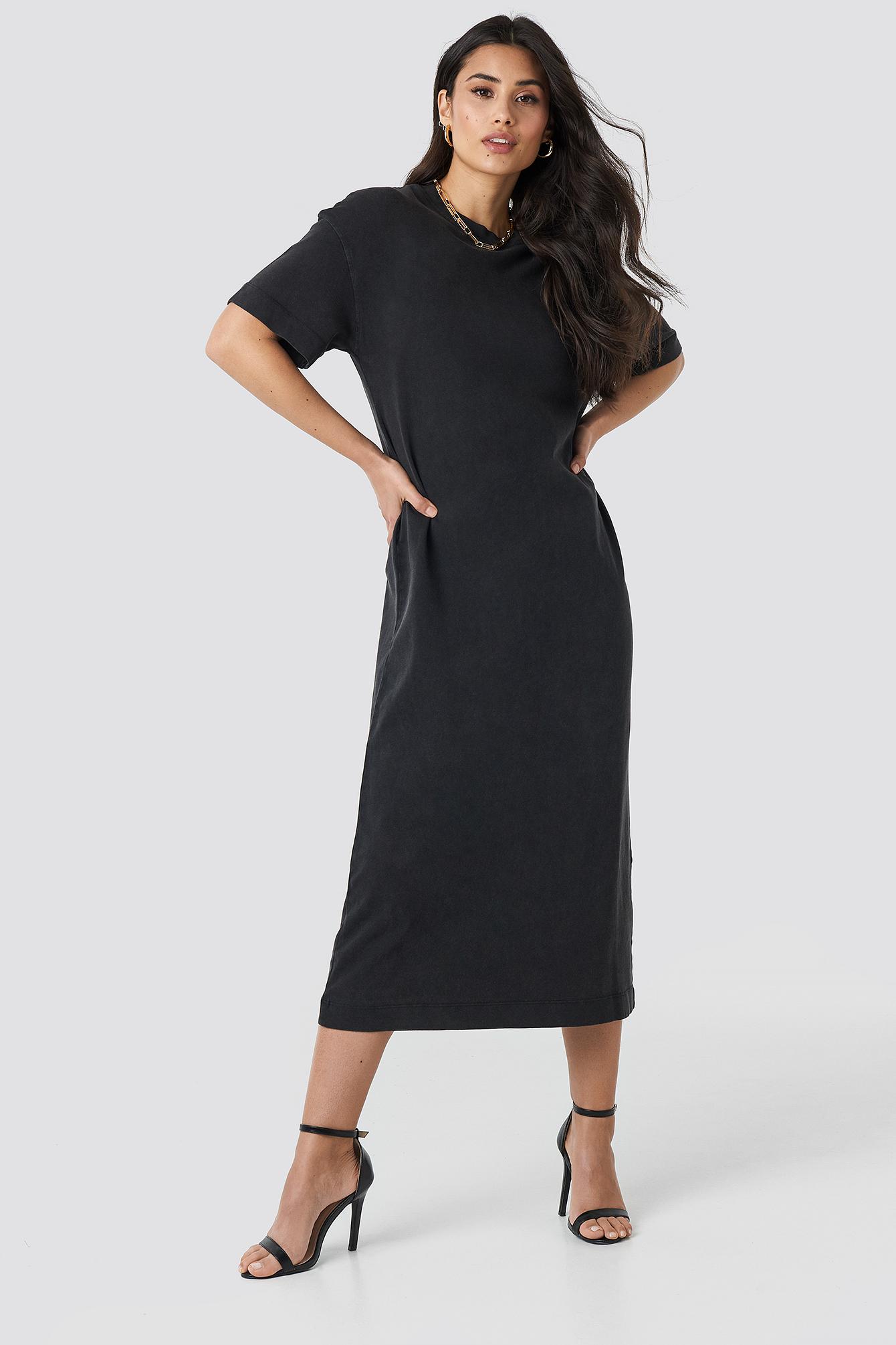 Washed Out Oversize Dress NA-KD.COM