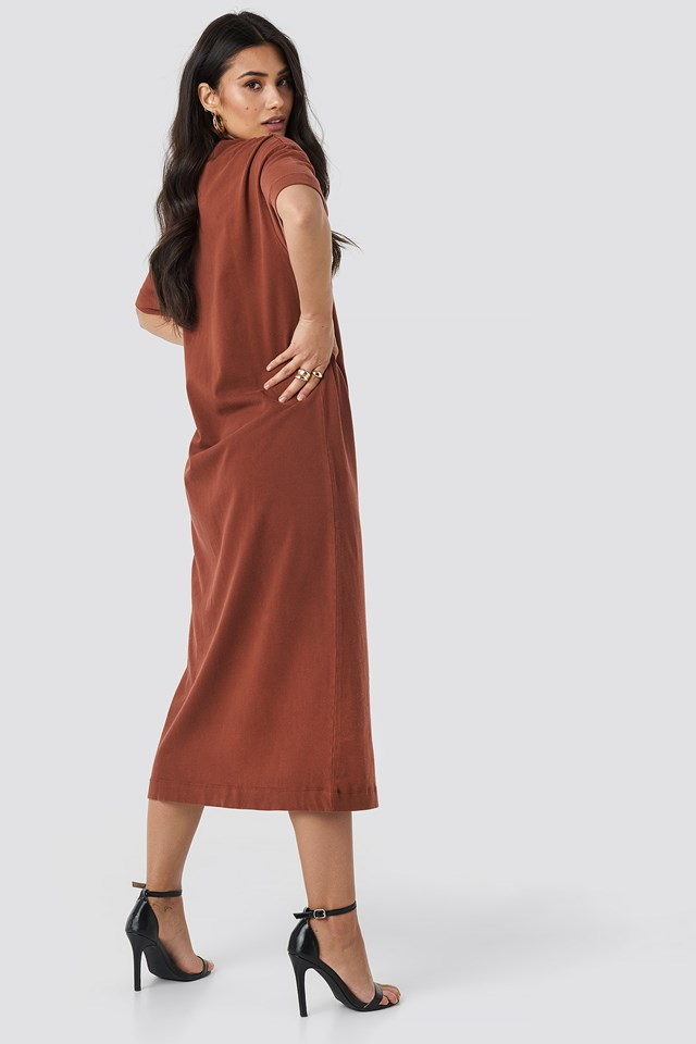 Washed Out Oversize Dress Sand