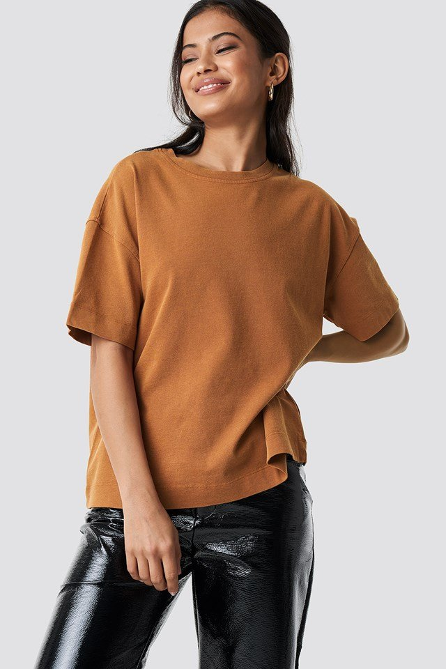 Washed out Oversize tee Tan