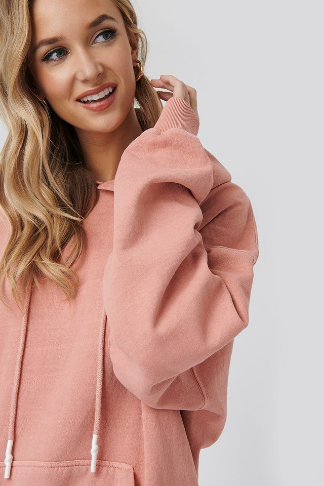 Washed Oversized Hoodie Pink