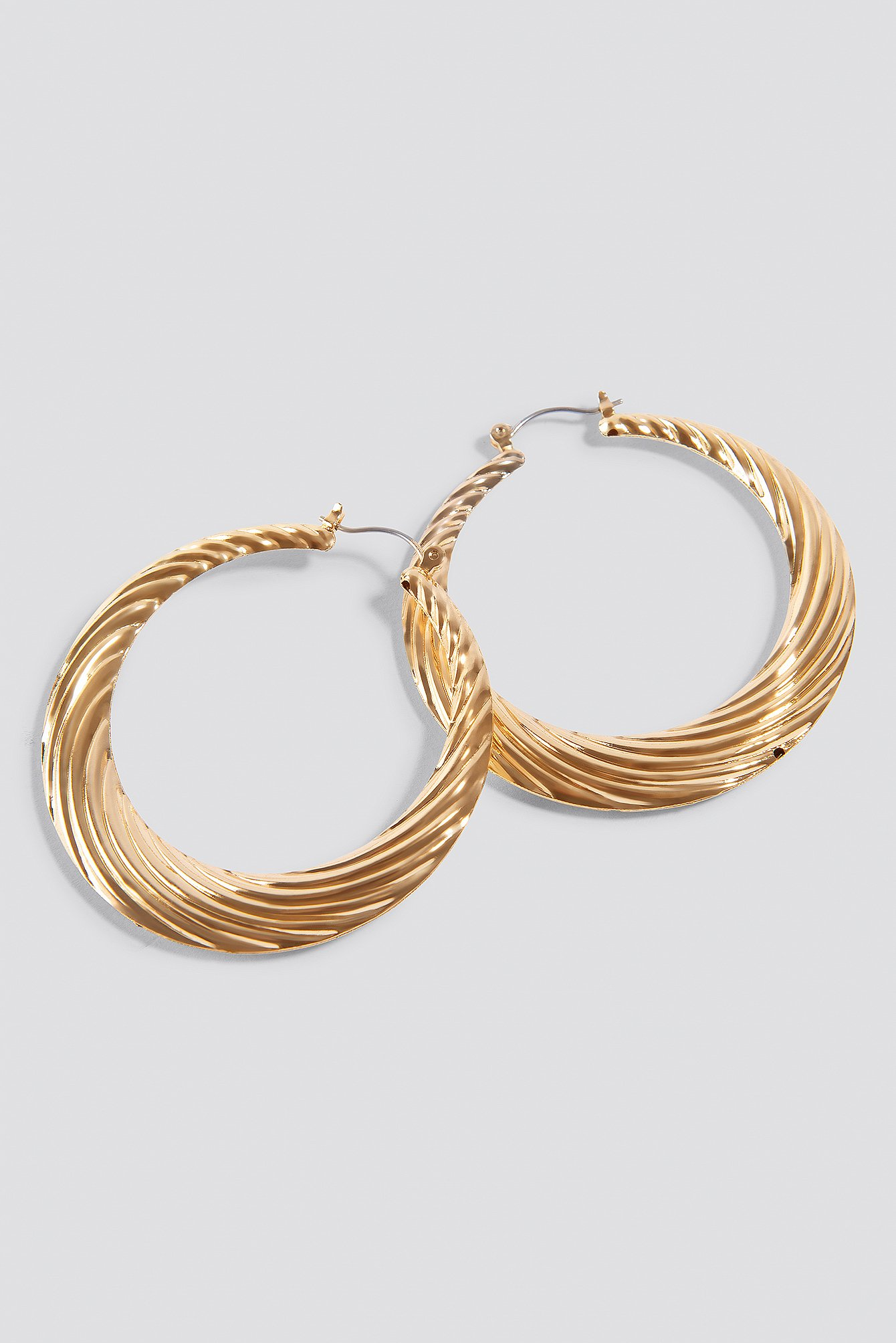 Gold Wave Hoops