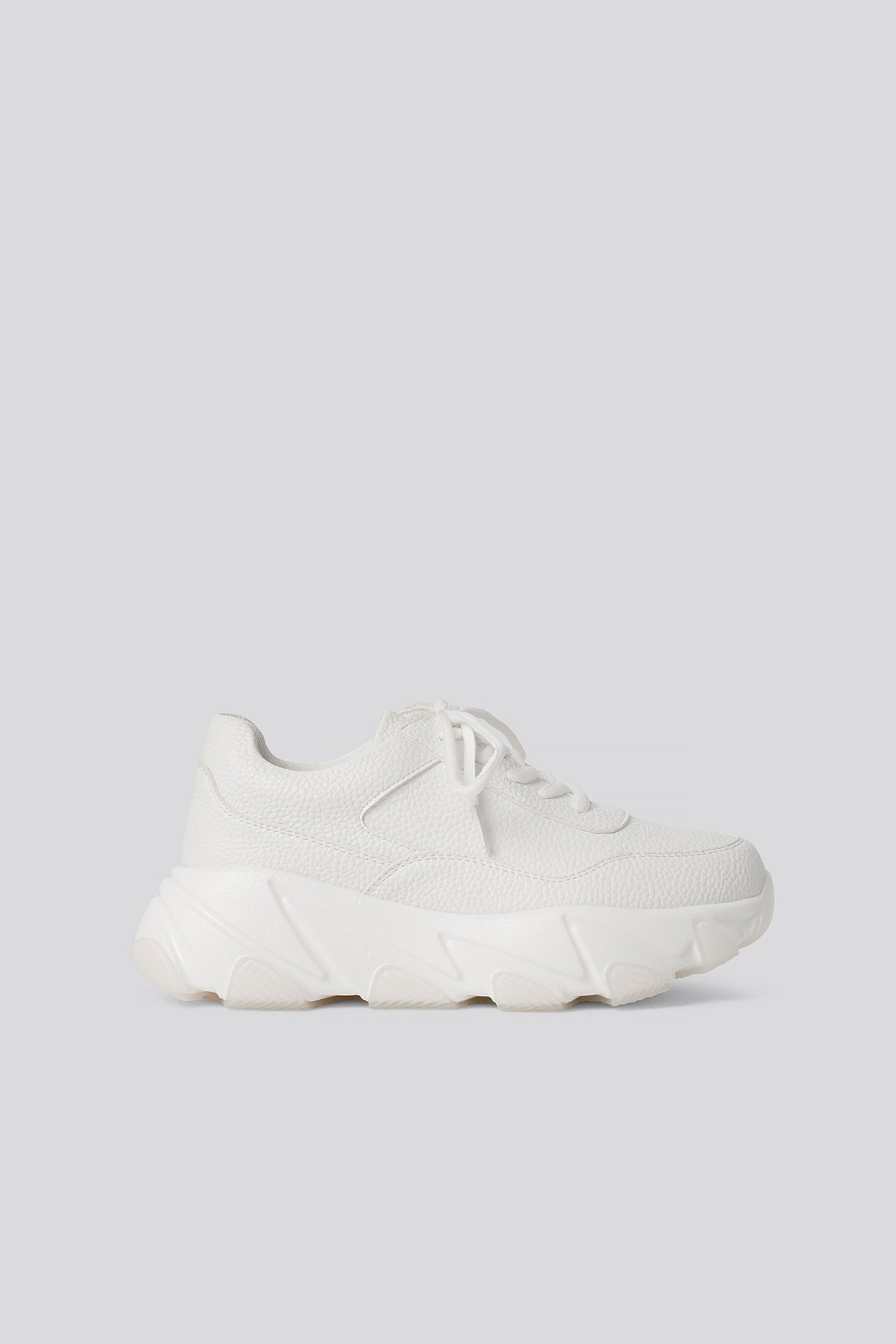 na-kd shoes -  Wave Sole Chunky Trainers - White