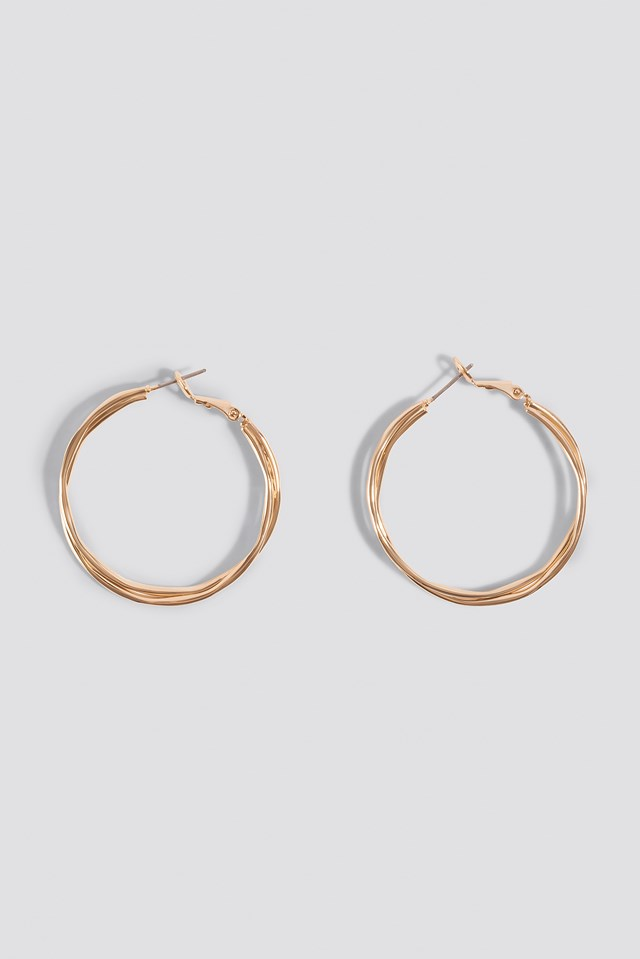 Wavy Layered Hoop Earrings NA-KD Accessories