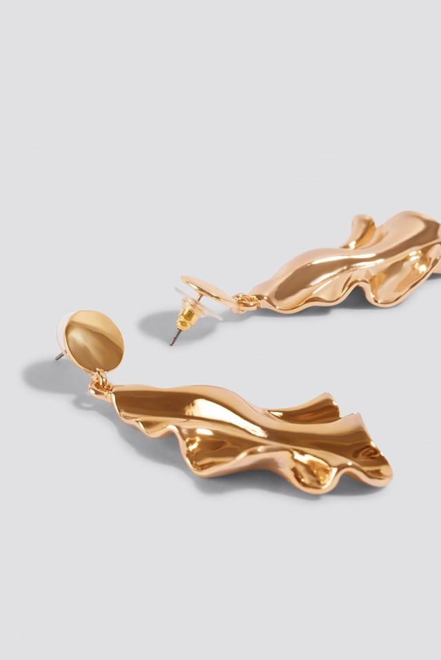 Wavy Rhombus Earrings Gold
