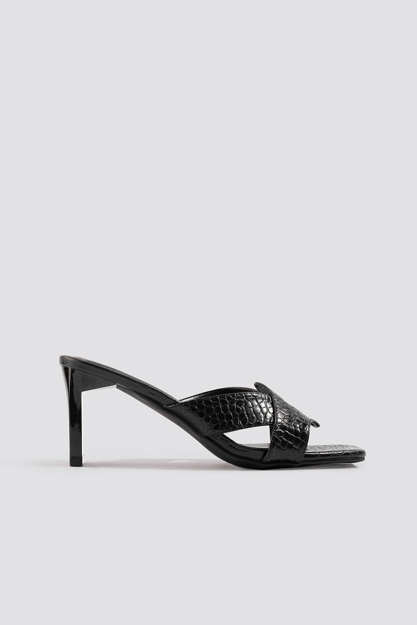 na-kd shoes -  Wavy Strap Mules - Black