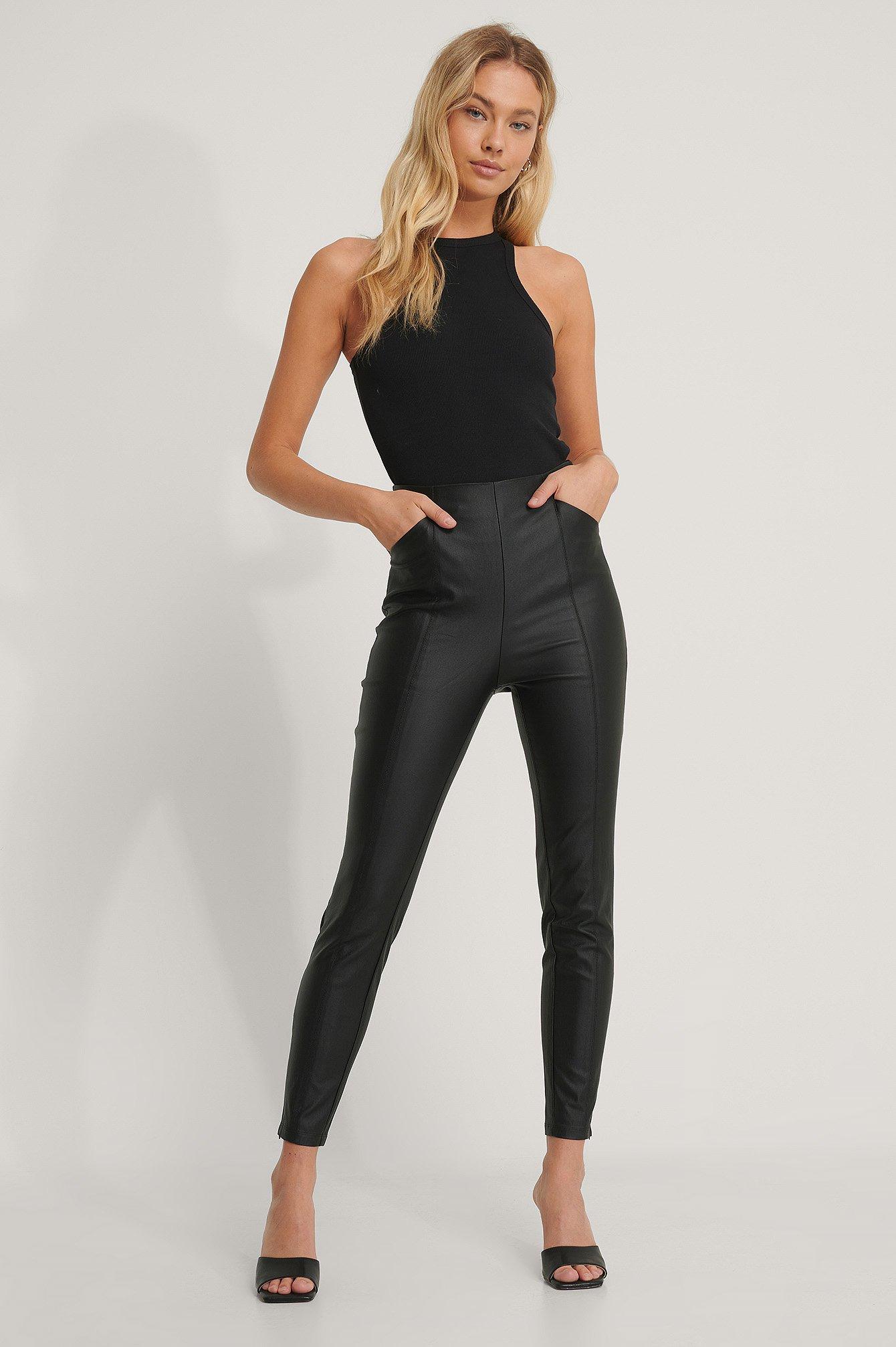 NA-KD Leggings - Black