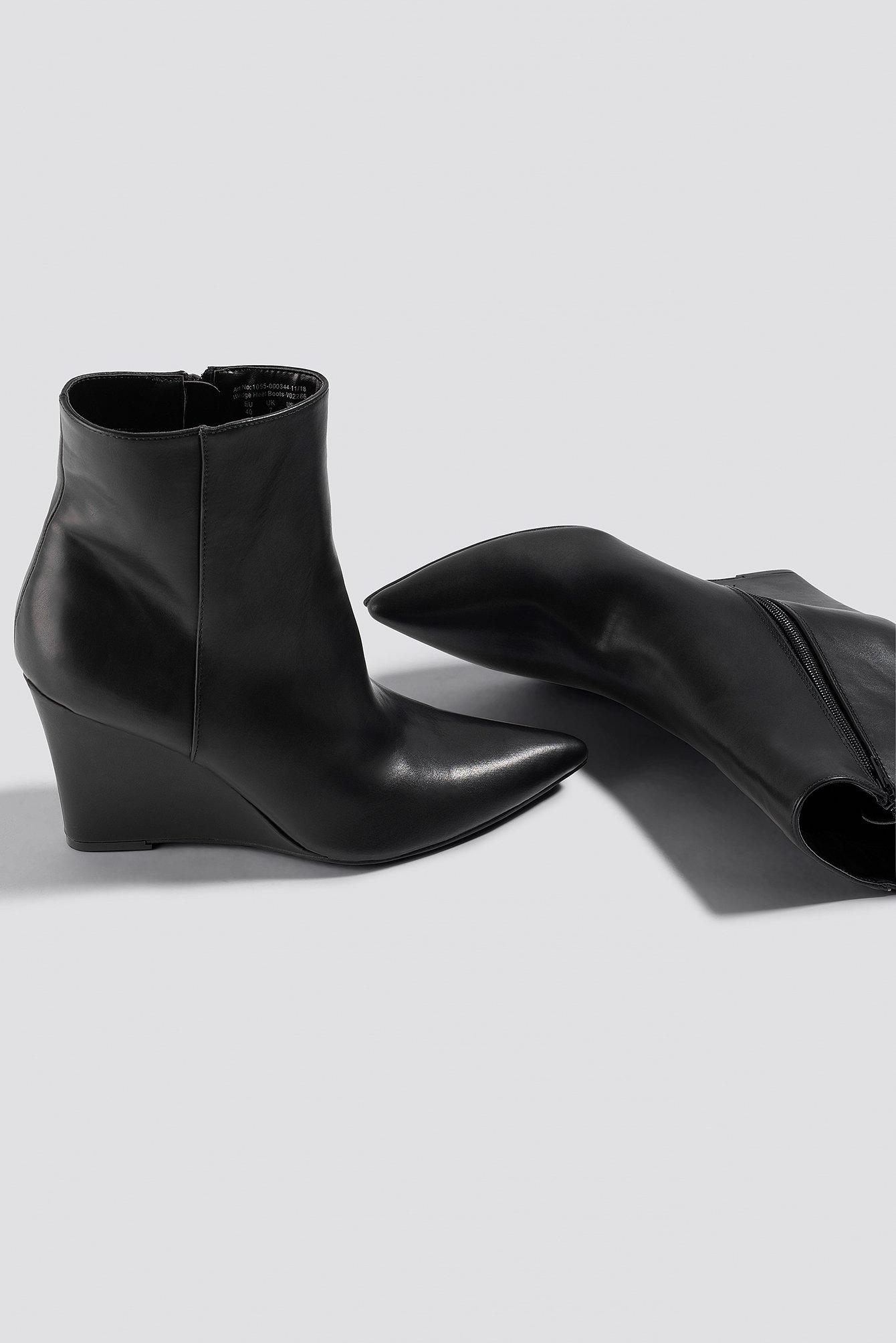 Wedge Heel Boots NA-KD.COM