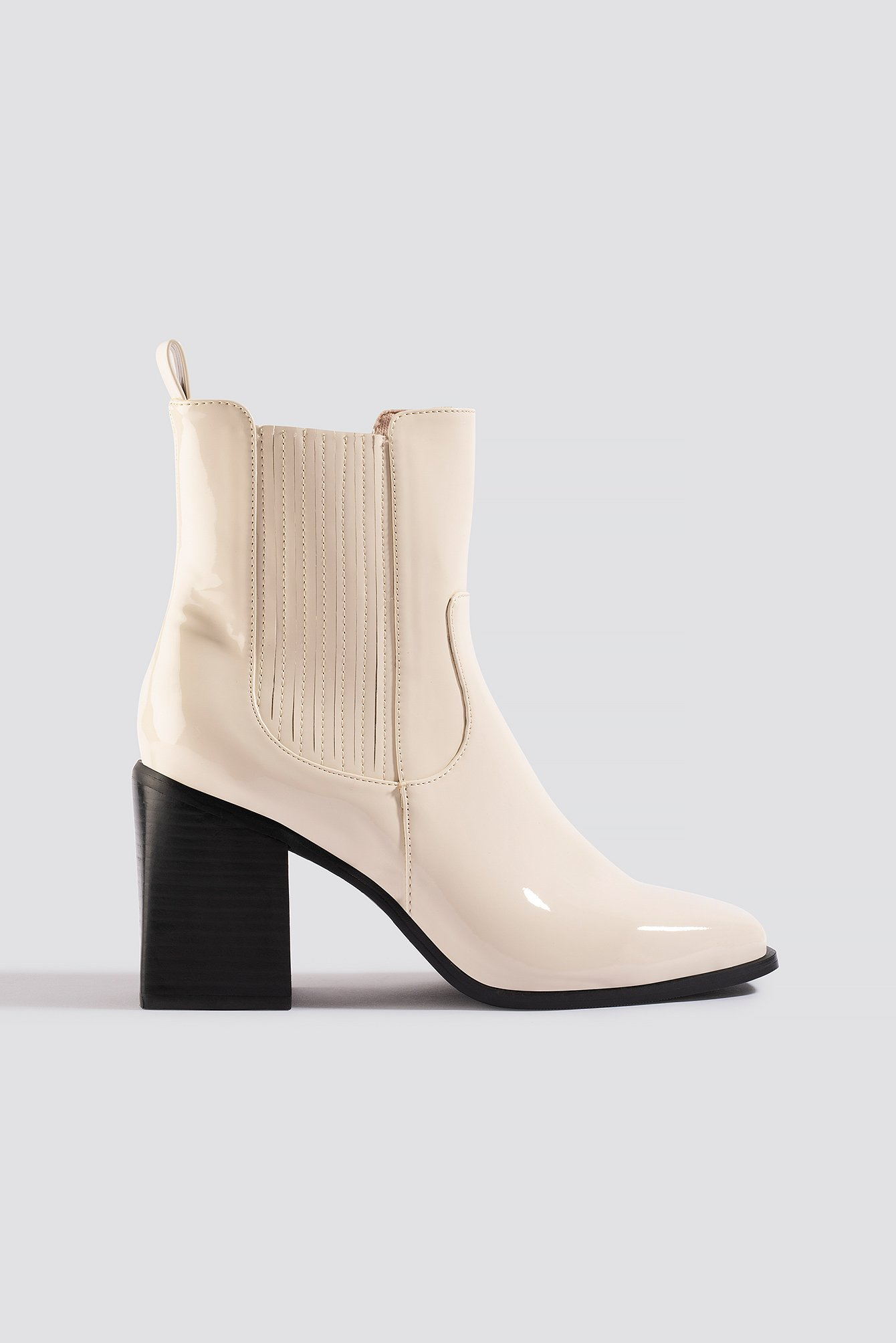 na-kd shoes -  Western Chelsea Boots - White
