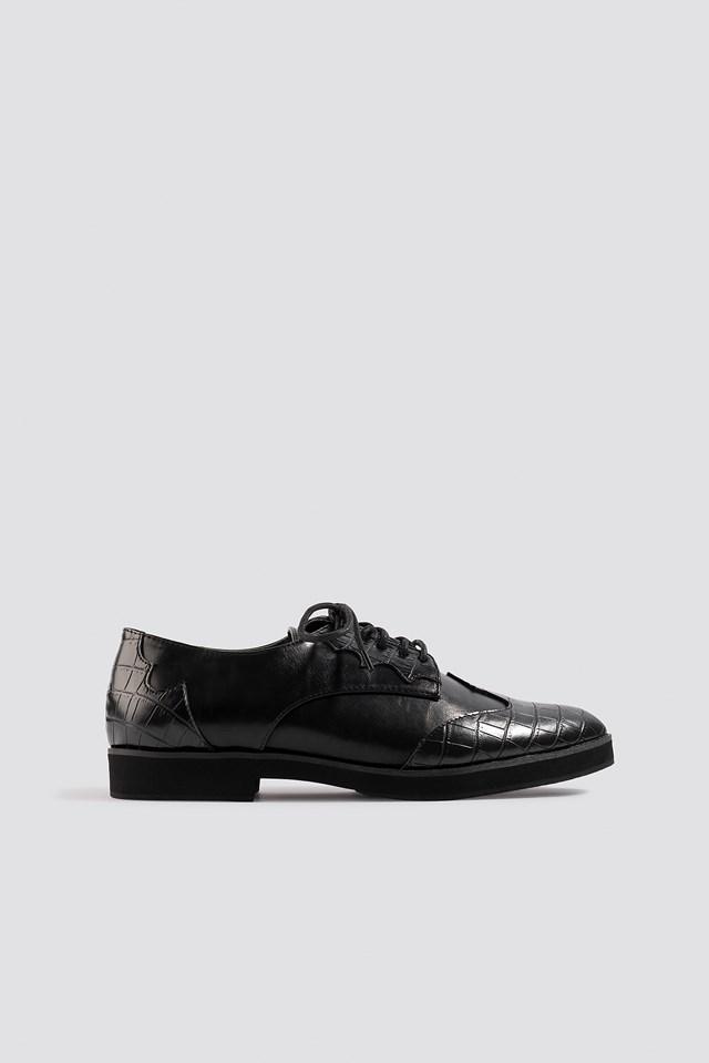 Western Derby Shoe Black