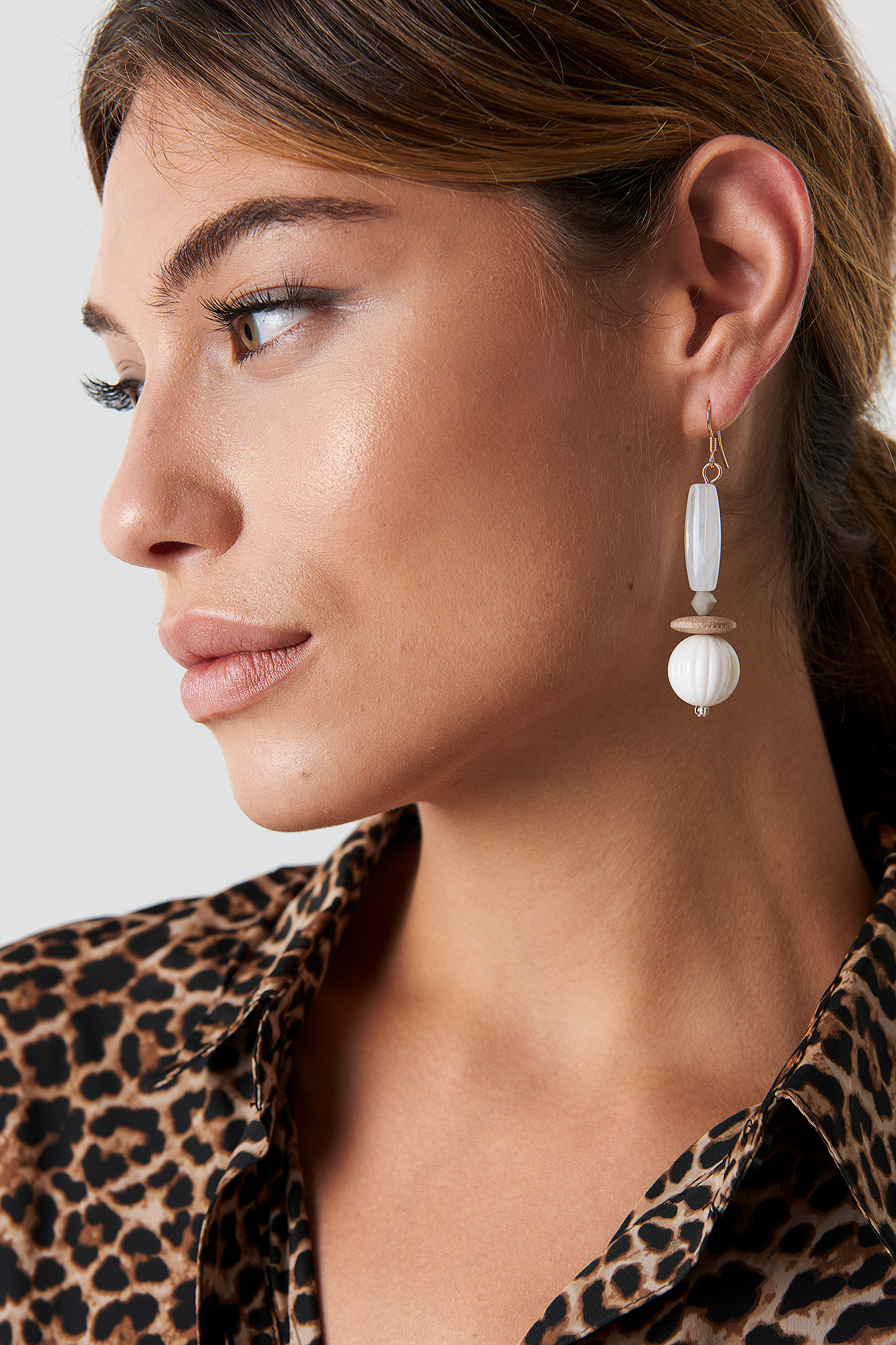na-kd accessories -  White Drop Earrings - White,Gold