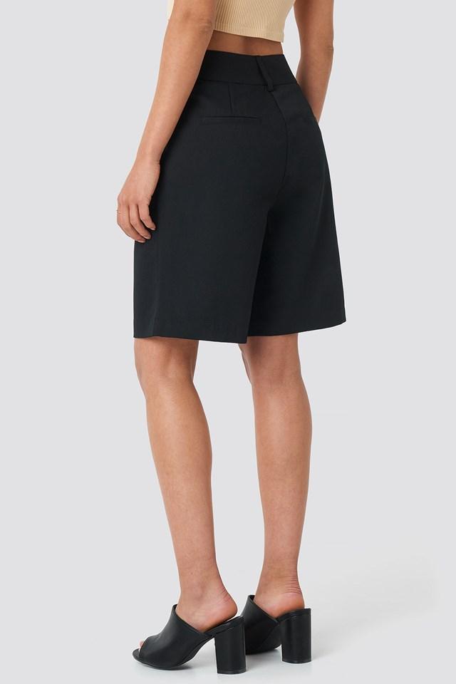 Wide Bermuda Shorts Black