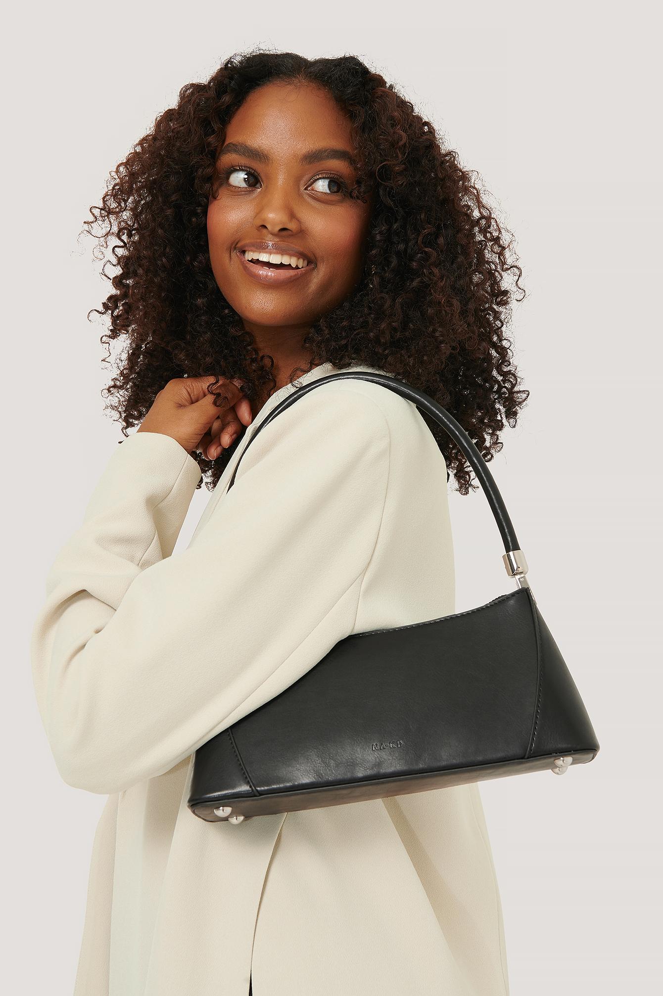 na-kd accessories -  Baguette-Beutel Mit Breitem Boden - Black
