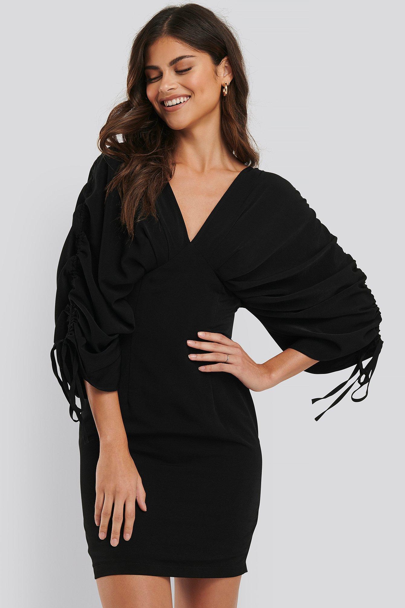 na-kd party -  Weitärmeliges Kleid - Black